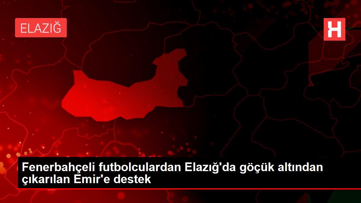 Fenerbahçeli futbolculardan Elazığ'da göçük altından çıkarılan Emir'e destek