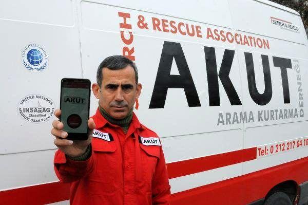 AKUT'un deprem anında hayat kurtaran uygulamasına büyük ilgi! Yüz binlerce kişi indirdi