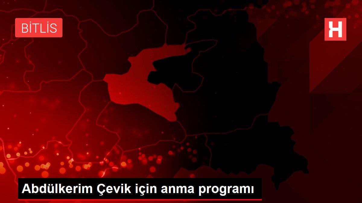 Abdülkerim Çevik için anma programı