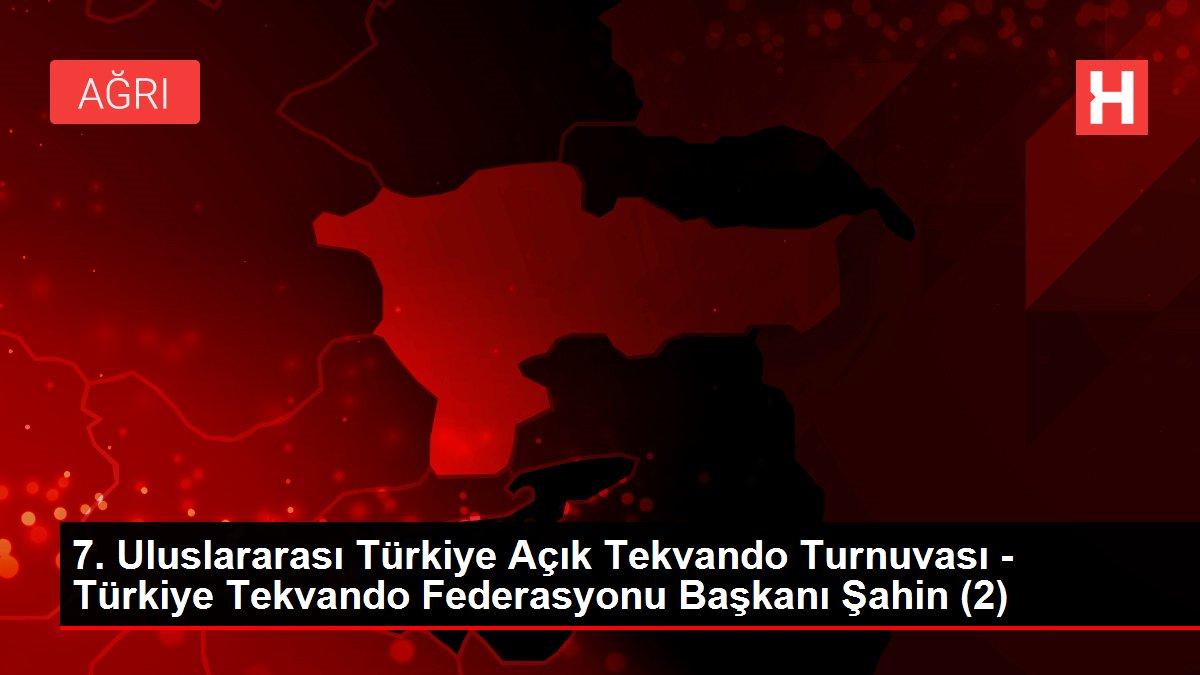 7. Uluslararası Türkiye Açık Tekvando Turnuvası - Türkiye Tekvando Federasyonu Başkanı Şahin (2)