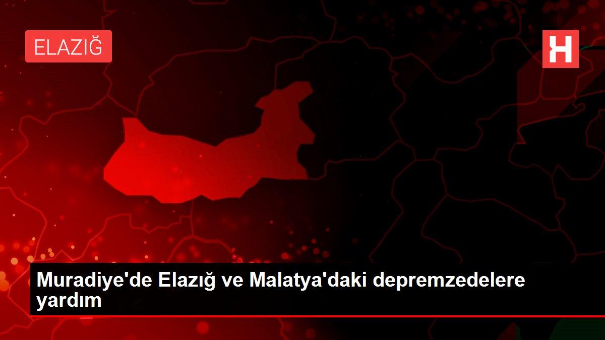 Muradiye'de Elazığ ve Malatya'daki depremzedelere yardım