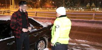 Karlı yolda drift atan alkollü stajyer sürücünün savunması 'pes' dedirtti: Hava karlı, kar lastiğim yok