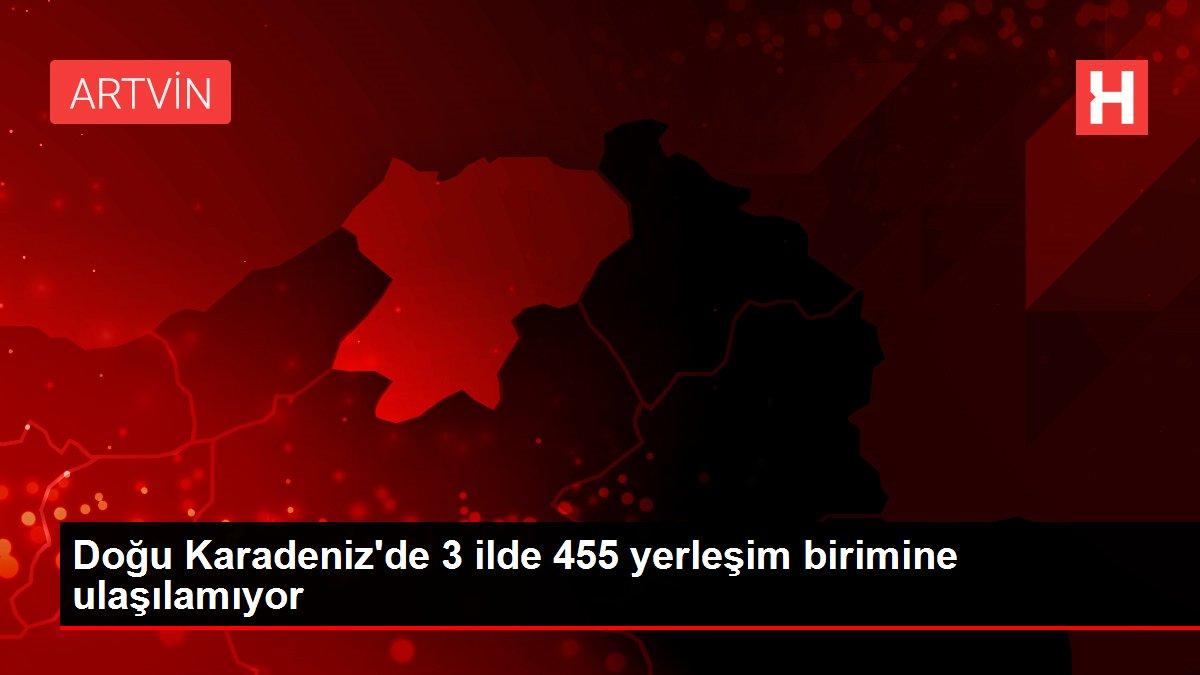 Doğu Karadeniz'de 3 ilde 455 yerleşim birimine ulaşılamıyor