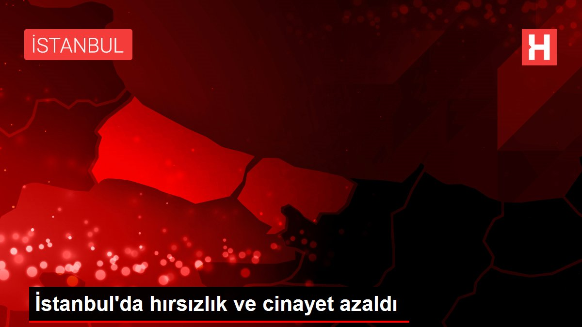 İstanbul'da hırsızlık ve cinayet azaldı