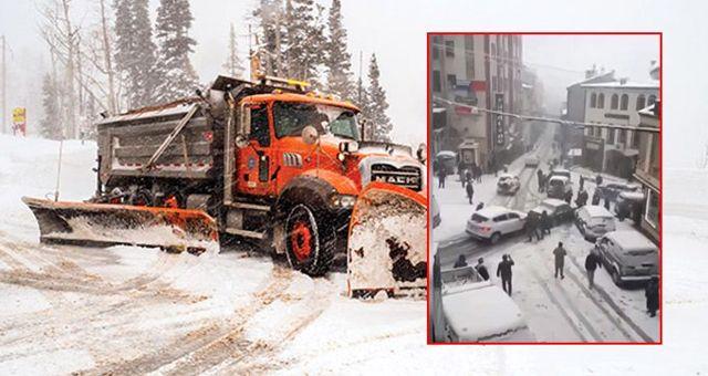 Araçlar buz tutan yolda kaydı, Arvinli maç gibi anlattı