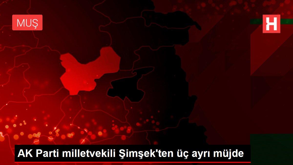 AK Parti milletvekili Şimşek'ten üç ayrı müjde