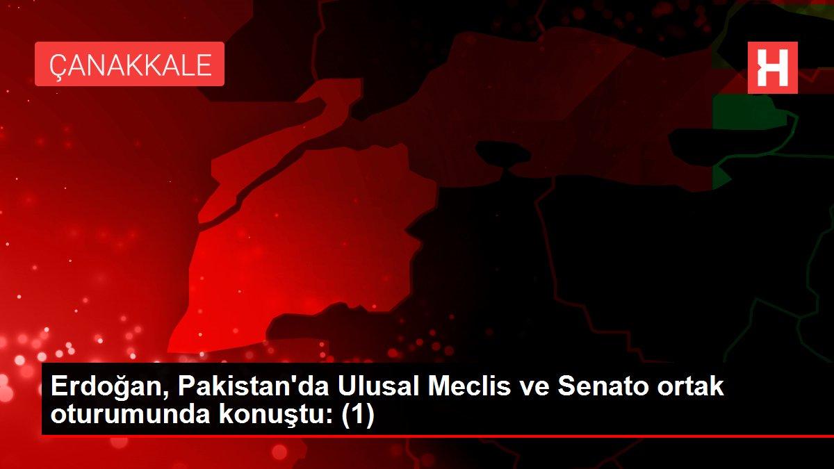 Erdoğan, Pakistan'da Ulusal Meclis ve Senato ortak oturumunda konuştu: (1)