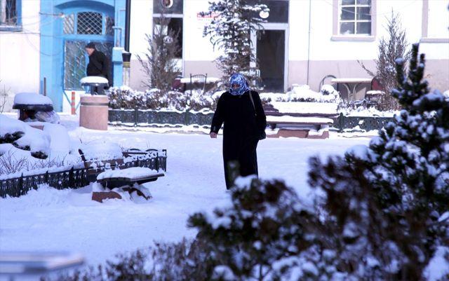 Erzurum ve Ardahan'da kar yağışı ve soğuk hava etkili oluyor