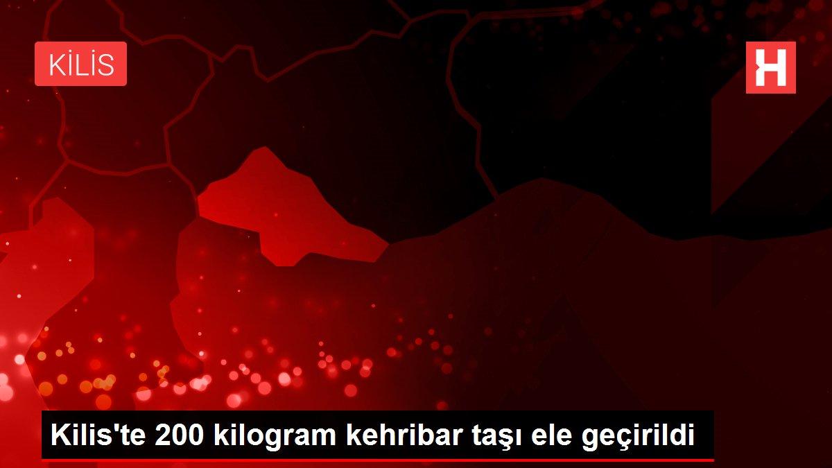 Kilis'te 200 kilogram kehribar taşı ele geçirildi