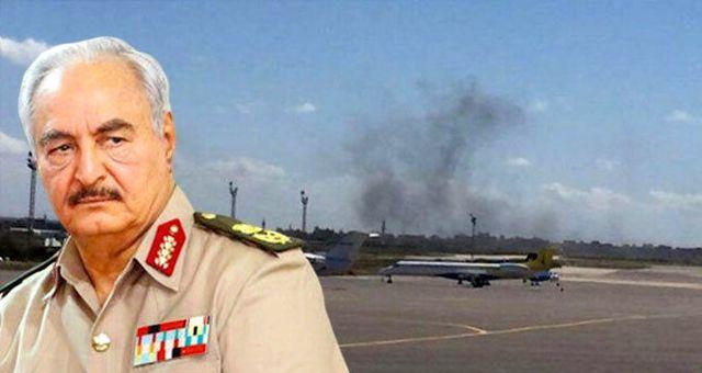 Darbeci Hafter'in hava saldırısı nedeniyle Mitiga Havalimanı'ndaki uçuşlar durduruldu
