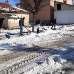 Ulaş'ta kar temizleme çalışmaları devam ediyor