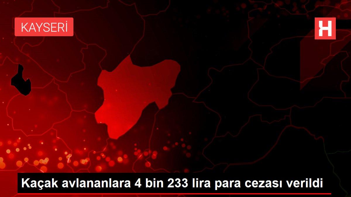 Kaçak avlananlara 4 bin 233 lira para cezası verildi