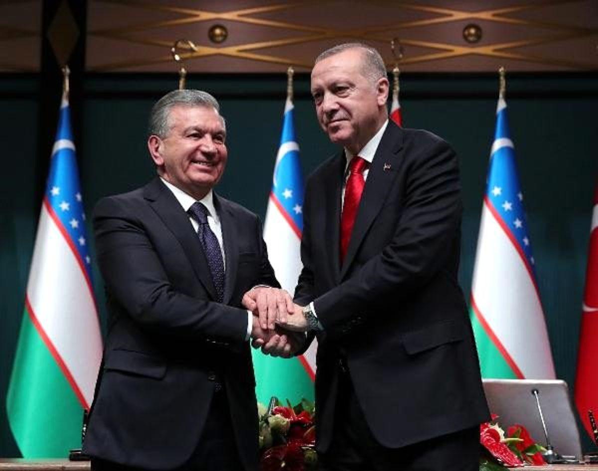 Erdoğan: Özbekistan ile ticaret hacmimizi 5 milyar dolara çıkarmayı hedefliyoruz