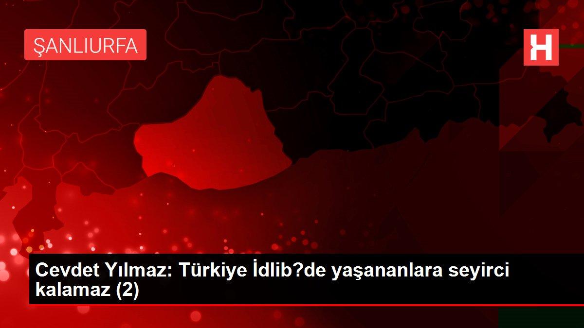 Cevdet Yılmaz: Türkiye İdlib?de yaşananlara seyirci kalamaz (2)