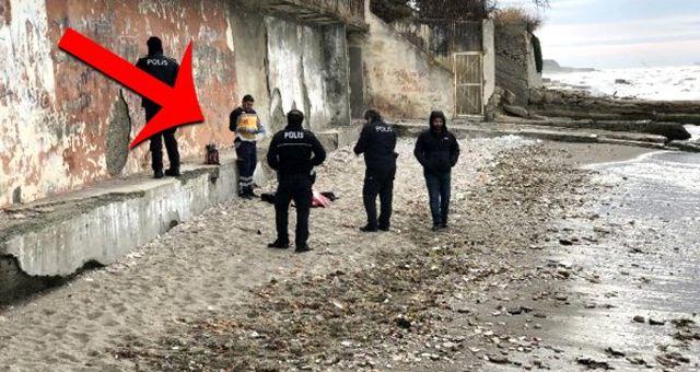 Büyükçekmece sahilinde yürüyüş yapan kadın, bir kadının cansız bedenine rastladı
