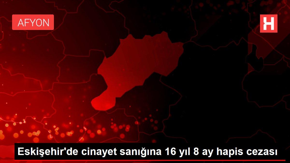 Eskişehir'de cinayet sanığına 16 yıl 8 ay hapis cezası