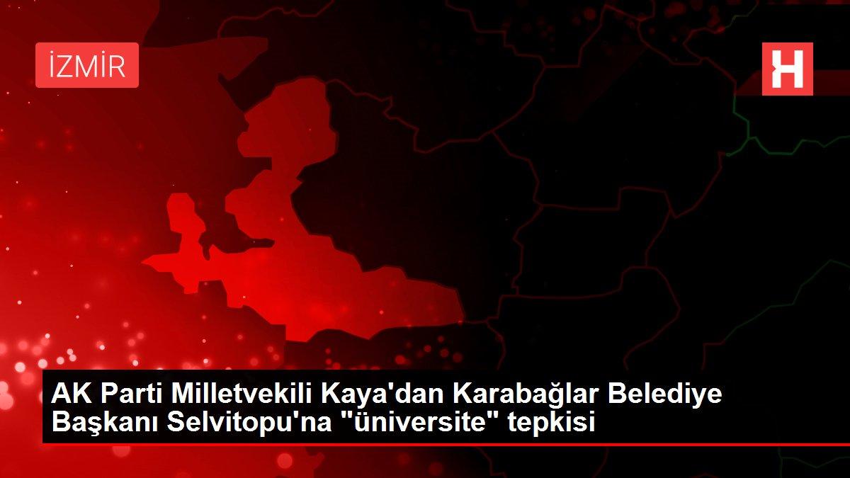 AK Parti Milletvekili Kaya'dan Karabağlar Belediye Başkanı Selvitopu'na