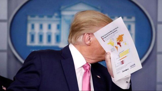Türkiye, Trump'ın elindeki haritada koronavirüse hazır olan ülkeler arasında yer aldı