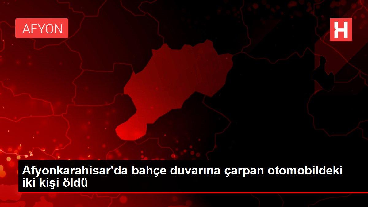 Afyonkarahisar'da bahçe duvarına çarpan otomobildeki iki kişi öldü