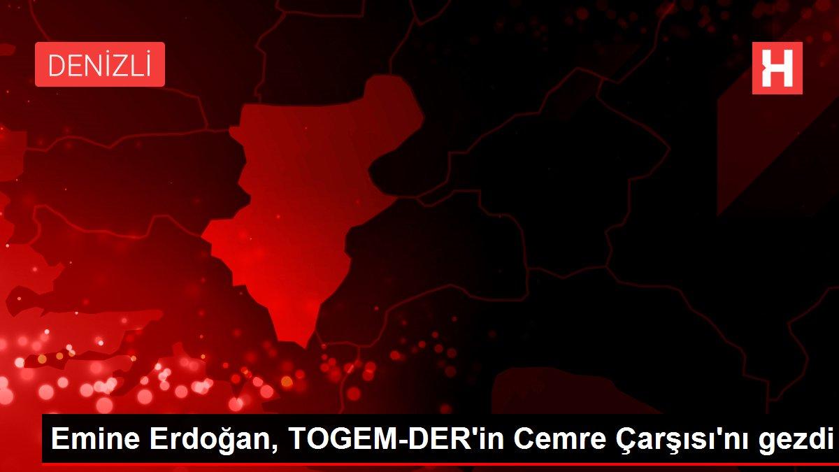 Emine Erdoğan, TOGEM-DER'in Cemre Çarşısı'nı gezdi