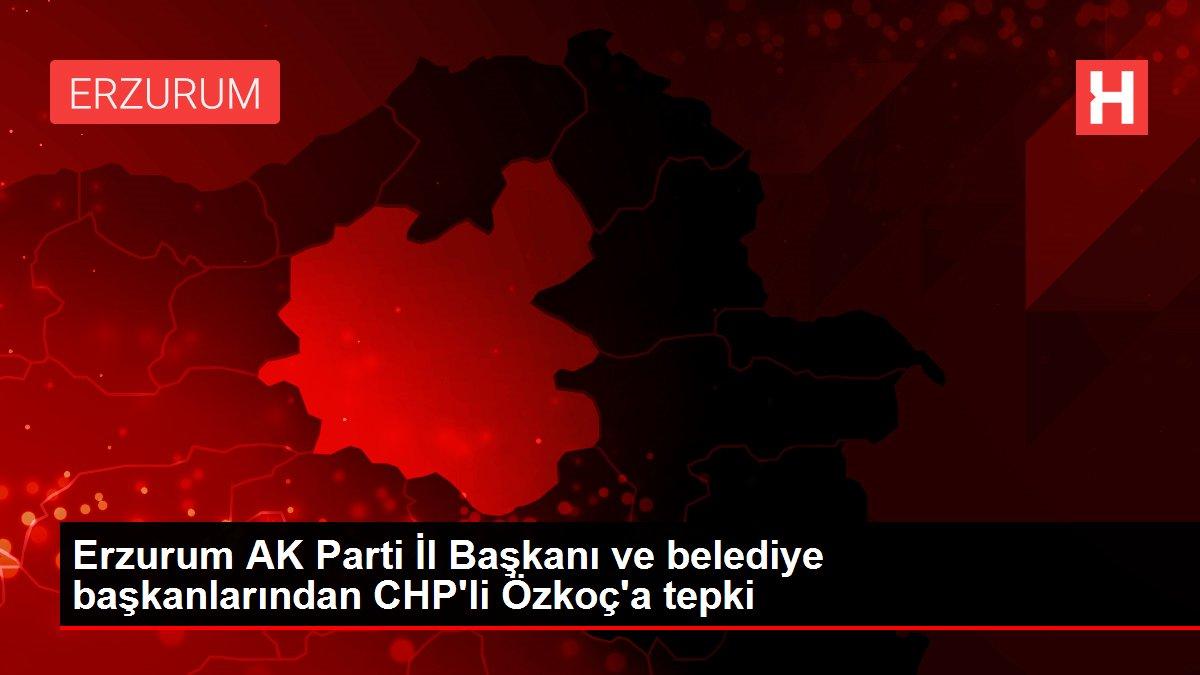 Erzurum AK Parti İl Başkanı ve belediye başkanlarından CHP'li Özkoç'a tepki