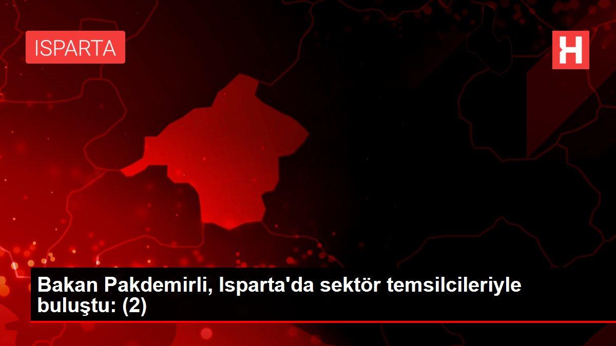 Bakan Pakdemirli, Isparta'da sektör temsilcileriyle buluştu: (2)