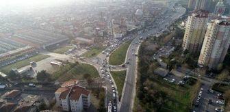 İkitelli: (Havadan fotoğraflarla)   Küçükçekmece'de trafik çilesi... 3 kilometrelik yolu 1 saatte alıyorlar