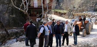 Esat Öztürk: Başkan Öztürk Kapuzbaşı'da incelemelerde bulundu