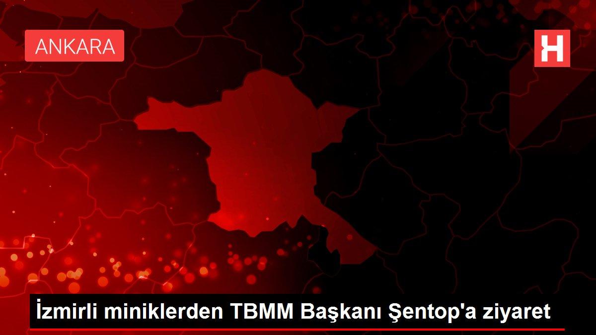 İzmirli miniklerden TBMM Başkanı Şentop'a ziyaret