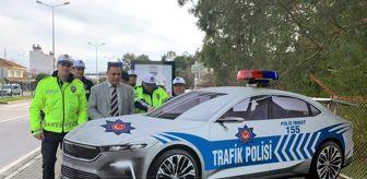 Yerli otomobilin maket polis arabası yapıldı