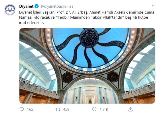 """Diyanet İşleri Başkanlığı, """"Cuma namazı kılınmayacak"""" iddialarına yanıt verdi 1"""