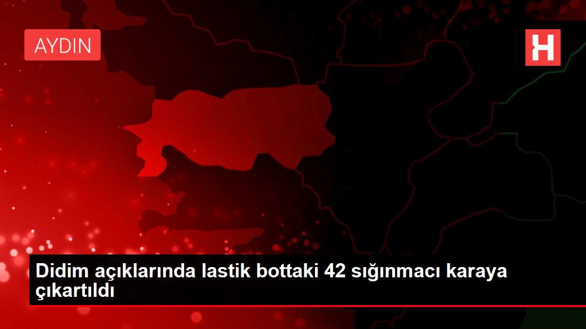 Didim açıklarında lastik bottaki 42 sığınmacı karaya çıkartıldı