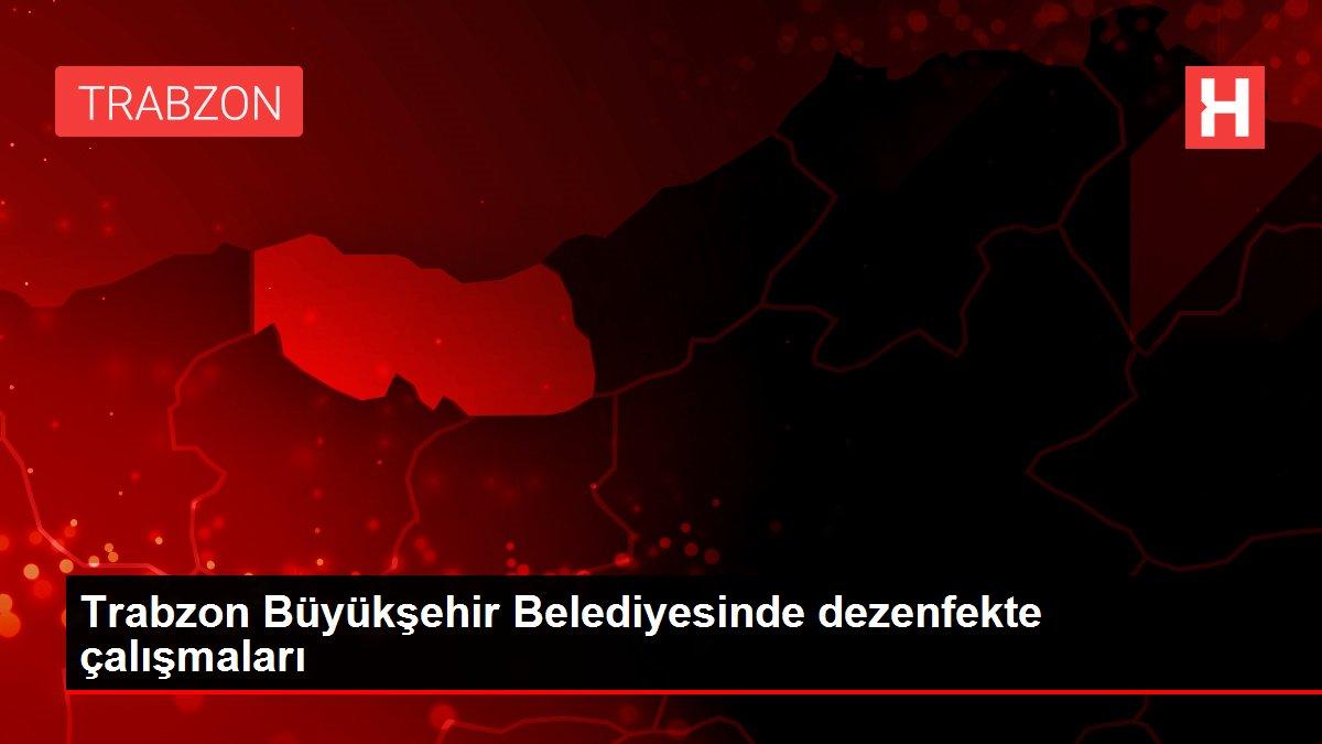 Trabzon Büyükşehir Belediyesinde dezenfekte çalışmaları