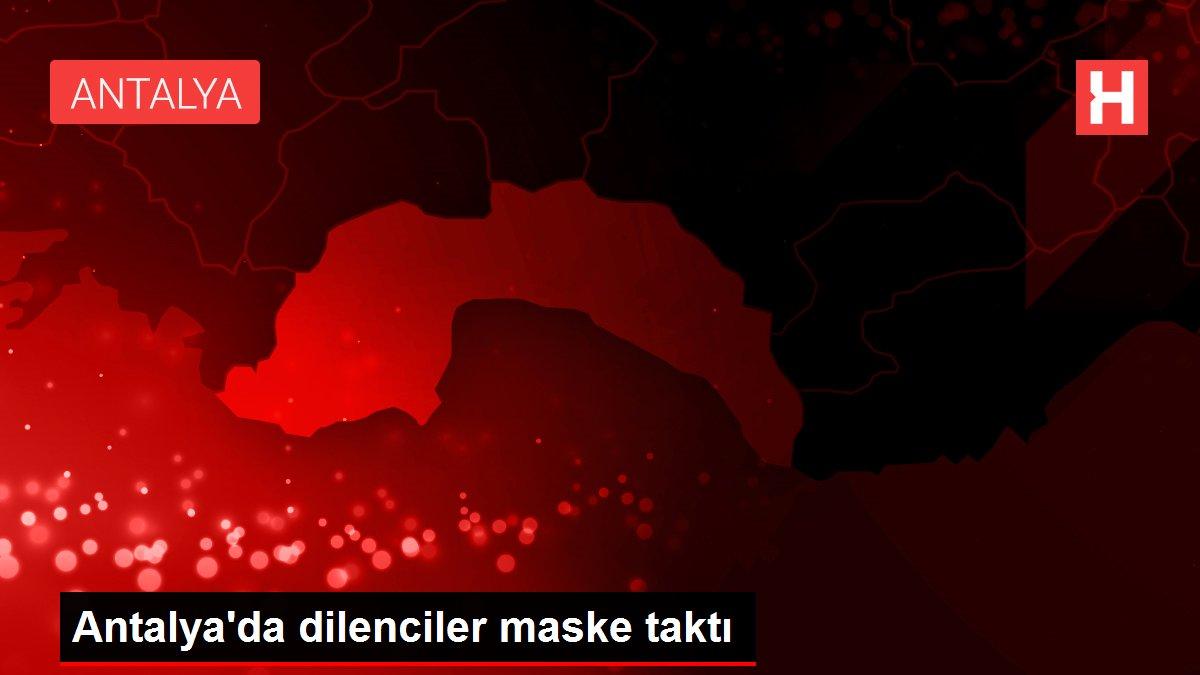 Antalya'da dilenciler maske taktı