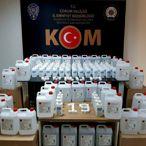 Çorum'da sahte dezenfektan ürettiği iddiasıyla 1 kişi gözaltına alındı