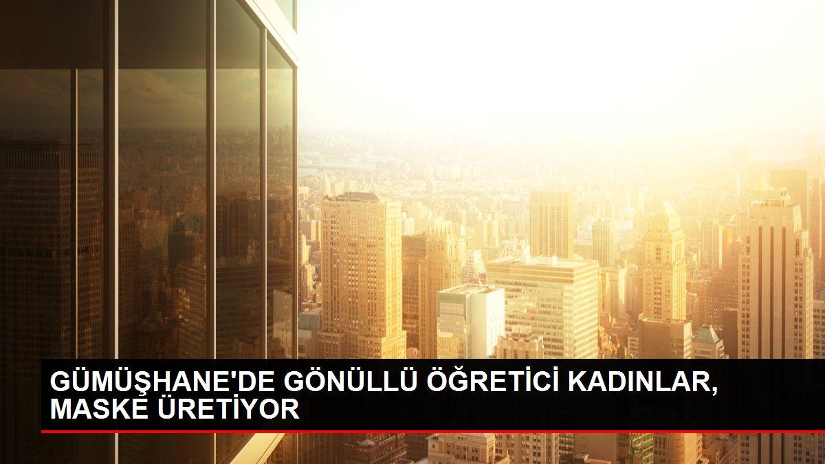 GÜMÜŞHANE'DE GÖNÜLLÜ ÖĞRETİCİ KADINLAR, MASKE ÜRETİYOR