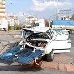 Kayseri'deki trafik kazasında 3 kişi yaralandı