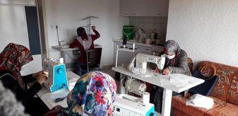 Tomarza: Tomarza Belediyesinin desteği ile gönüllü kadınlar maske üretmeye başladı