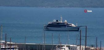 Süveyş Kanalı: Yunanistan'ın kabul etmediği milyon dolarlık yat Bodrum açıklarına demirledi