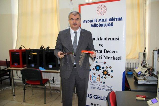 Aydın İl Milli Eğitim Müdürlüğü, virüse karşı 3D'li mücadele başlattı