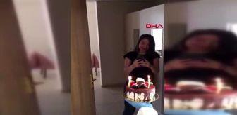 SAMSUN Karantina altında olan öğrenciye sürpriz doğum günü