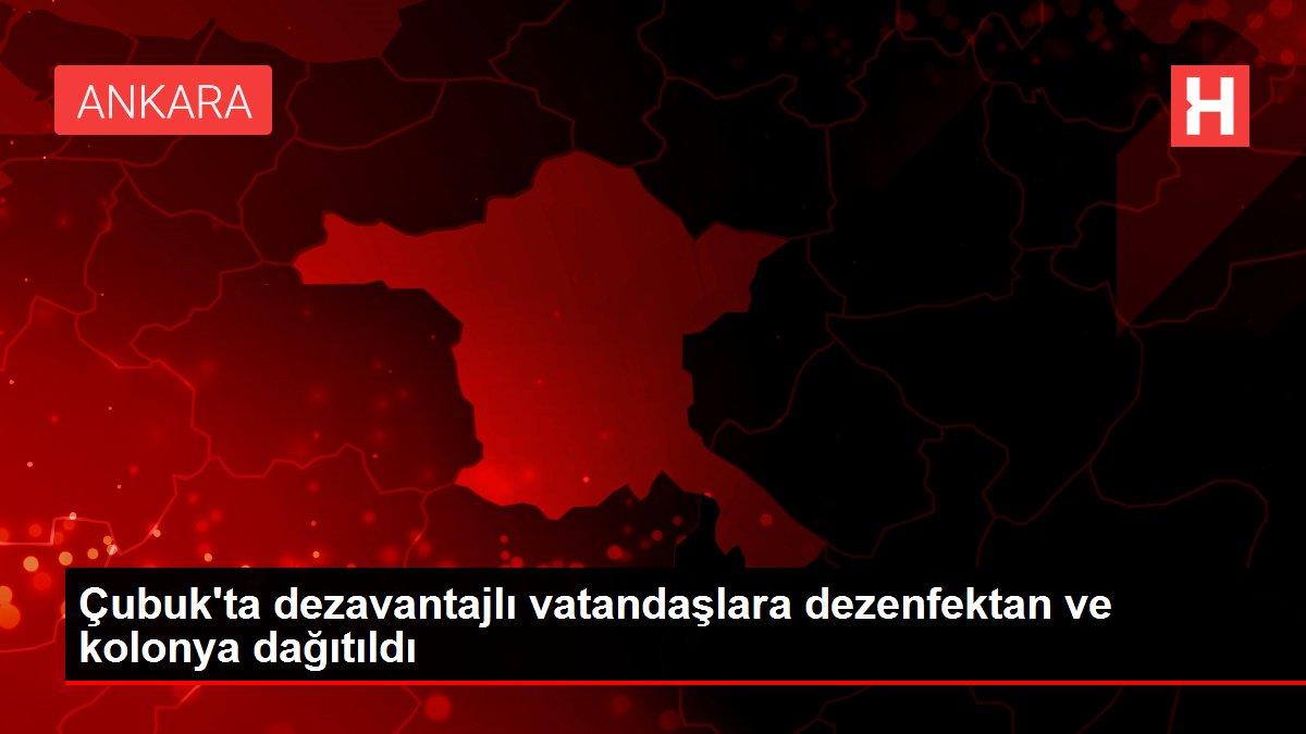 Çubuk'ta dezavantajlı vatandaşlara dezenfektan ve kolonya dağıtıldı