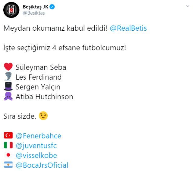 Fenerbahçe, Beşiktaş'ın meydan okumasını kabul etti!