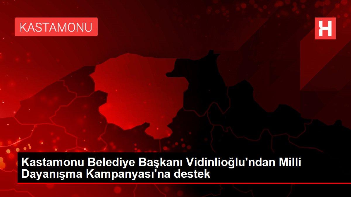 Kastamonu Belediye Başkanı Vidinlioğlu'ndan Milli Dayanışma Kampanyası'na destek