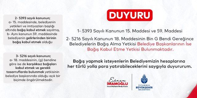 ABB ve İBB'nin yardım kampanyasına İçişleri Bakanlığı engel oldu: Belediyeler, valilikten izinsiz yardım toplayamaz