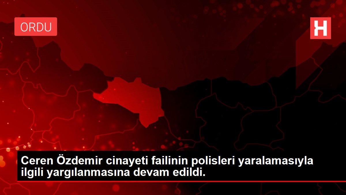Ceren Özdemir cinayeti failinin polisleri yaralamasıyla ilgili yargılanmasına devam edildi.