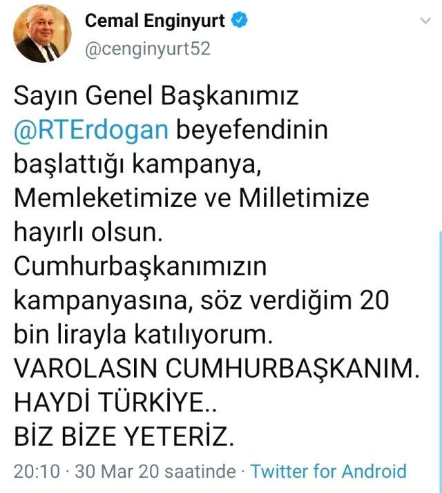 MHP'li Enginyurt, Cumhurbaşkanı Erdoğan için 'Genel Başkanımız' ifadesini kullandı