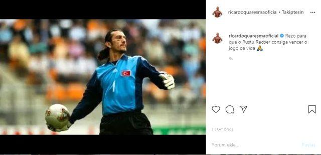 Ricardo Qauresma'dan Rüştü Reçber paylaşımı: Hayatının maçını kazanması için dua ediyorum
