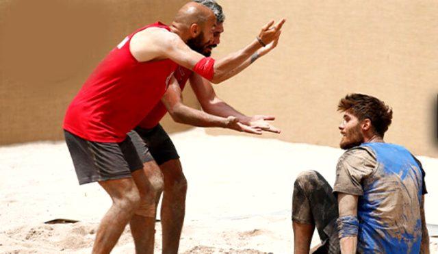 Survivor ödül oyununda yarışmacılar birbirine girince Acun, Parviz'i oyundan diskalifiye etti