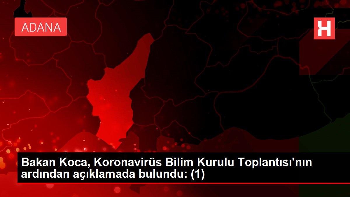 Bakan Koca, Koronavirüs Bilim Kurulu Toplantısı'nın ardından açıklamada bulundu: (1)